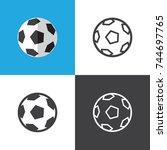 soccer ball   Shutterstock .eps vector #744697765