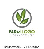 leaf green  eco and agriculture ... | Shutterstock .eps vector #744705865