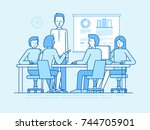 vector illustration in line... | Shutterstock .eps vector #744705901