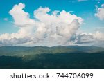 summer mountains green grass... | Shutterstock . vector #744706099