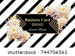 business brand card with... | Shutterstock .eps vector #744706561