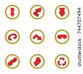 arrow icons set. cartoon set of ...