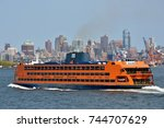 new york city   aug. 27  staten ... | Shutterstock . vector #744707629