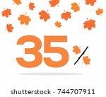 vector orange 35  text designed ...   Shutterstock .eps vector #744707911
