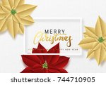 merry christmas  background... | Shutterstock .eps vector #744710905