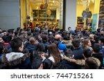 thessaloniki  greece   november ... | Shutterstock . vector #744715261