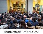 thessaloniki  greece   november ... | Shutterstock . vector #744715297