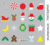 vector easy to use 20 colorful... | Shutterstock .eps vector #744736945