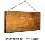 signboard on the chain isolated ... | Shutterstock . vector #74473804