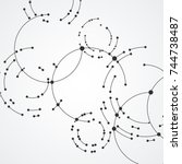 vector points connecting... | Shutterstock .eps vector #744738487