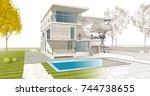 house building  3d illustration