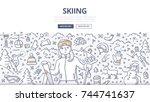 doodle vector illustration of... | Shutterstock .eps vector #744741637