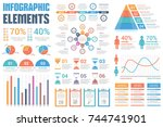 infographic elements   pie... | Shutterstock .eps vector #744741901