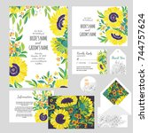 set of templates  for wedding...   Shutterstock .eps vector #744757624