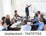 relaxed informal it business... | Shutterstock . vector #744757765