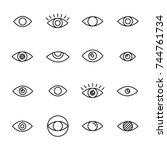 Premium Set Of Eye Line Icons....