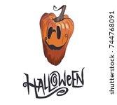 hand drawn illustration jack on ... | Shutterstock . vector #744768091