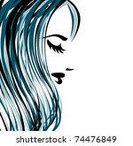 female background | Shutterstock .eps vector #74476849