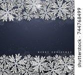 christmas and new year dark... | Shutterstock .eps vector #744768499