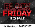 vectorbig sale design template  ... | Shutterstock .eps vector #744768577