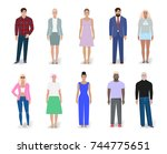 set of different people fashion ... | Shutterstock .eps vector #744775651