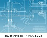 mechanical engineering.... | Shutterstock .eps vector #744775825