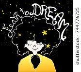inspiration motivation... | Shutterstock .eps vector #744776725