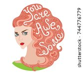an inspirational typography... | Shutterstock .eps vector #744776779