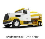 isolated concrete mixer with... | Shutterstock . vector #7447789