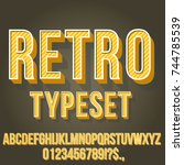 retro gold yellow colored... | Shutterstock .eps vector #744785539