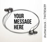 innovative vector music... | Shutterstock .eps vector #744785659