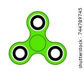 flat design color icon green...   Shutterstock .eps vector #744789745