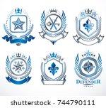 set of vector vintage elements  ... | Shutterstock .eps vector #744790111