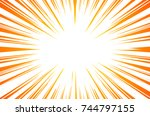 sun rays or explosion boom for... | Shutterstock . vector #744797155