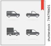 set of raster car icons