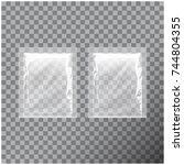 transparent blank template... | Shutterstock .eps vector #744804355