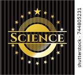 science gold badge | Shutterstock .eps vector #744805231