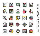 collection of  marketing flat... | Shutterstock .eps vector #744810121
