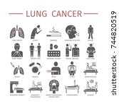 lung cancer . symptoms  causes. ...   Shutterstock .eps vector #744820519