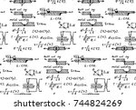 background with physics... | Shutterstock .eps vector #744824269