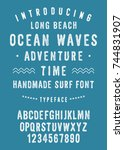 ocean waves surf font....   Shutterstock .eps vector #744831907