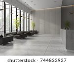 Stock photo interior of a lobby hotel reception d illustration 744832927