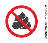 no poop icon vector   Shutterstock .eps vector #744841045