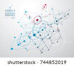 futuristic abstract vector... | Shutterstock .eps vector #744852019