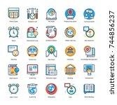 school and education vector... | Shutterstock .eps vector #744856237