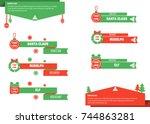 vector illustration of... | Shutterstock .eps vector #744863281