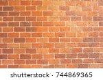 background of brick wall... | Shutterstock . vector #744869365