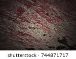 metal texture with scratches... | Shutterstock . vector #744871717