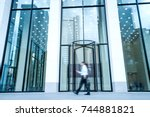 architectural fragment of the... | Shutterstock . vector #744881821