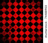 Grunge Red Checkered  Abstract...
